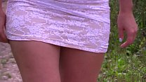 [fucking my sleeping sister] Compilation of amateur scenes with a golden shower in outdoors. thumbnail