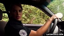 Latina officer caught on a guy jerking off in his car! - Mercedes Carrera - 9Club.Top