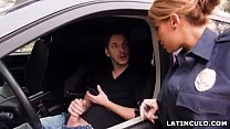 Latina officer caught on a guy jerking off in his car! - Mercedes Carrera thumbnail