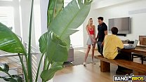 Bangbros - Haley Reed Takes A Big Black Cock Behind Her Dad's Back