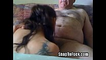 lovely grandpa gets sucked off by girl from SnapToFuck