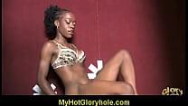 Interracial Glory Hole Blowjob 15