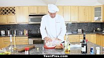TeenPies - Tiny Teen Creampied by Chef on Thanskgiving image
