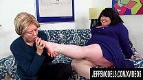 Fat Lesbian Bella Bendz Gets Strapon Anal By Br