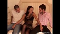 Hot and sexy Sonia Red double penetrated by roommates
