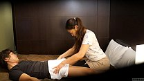 Japanese hotel massage gone wrong Subtitled in HD image