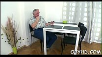 Old fellow seduces a young hottie pornhub video