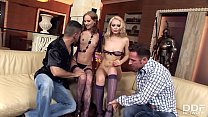 Teen anal & double penetration orgy with Gitta ...