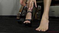 Mistress Kat Dior Makes Her Slave Kiss Her Feet...