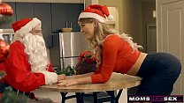 Momsteachsex Santa 039 S Horny Helpers In Christmas Threesome S9 E7