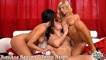 Busty Breanne Benson and Tasha Reign gets fucked preview image
