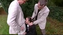 School girl caught smoking get punished!