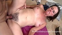 Veronica Snow gets her  hairy pussy worked out thumbnail