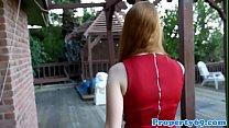 Redhead realtor cockriding during a viewing ~ Porntits thumbnail