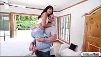 Tiny babe Gina fucks in hardcore pornhub video