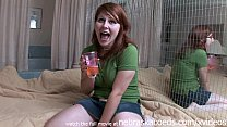 full hairy bush on very cute redhead amateur preview image