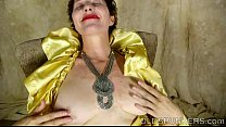 Horny old spunker likes to talk dirty and frig her juicy pussy for you preview image