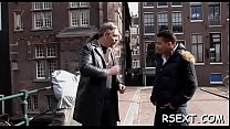 10559 Horny old fellow takes a tour in amsterdam's redlight district preview