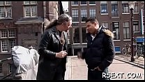 14843 Horny old fellow takes a tour in amsterdam's redlight district preview