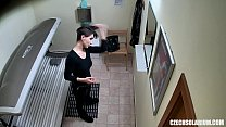 Sexy Short Haired Girl on Hidden Camera Thumbnail
