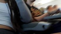 Dread Hot batendo uma punheta pro namorado no avião صورة