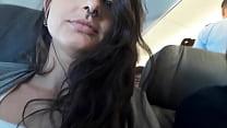 Dread Hot batendo uma punheta pro namorado no avião