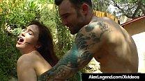French Cock Alex Legend Bangs Jodi Taylor Outdoors!