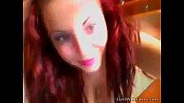 Busty latin babe teasing on webcam