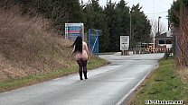 Fat amateur flasher Emmas public exhibitionism and voyeur bbw babe outdoors nude Vorschaubild
