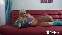 Russian Teen Lana Sweet Masturbating On Webcam Image
