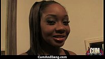 Sexy ebony snatched and group fucked by white dudes 11 preview image