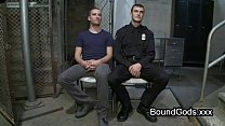 Bondage Butt Plugged Gay Bent Over Table Throat Fucked In Prison