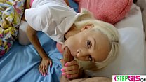 Tiny teen stepsister Emma Hix wanted to skip school