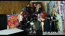 Bi movie scene with concupiscent amateurs