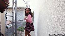 Image: Black Girl Sucks on Chocolate Balls