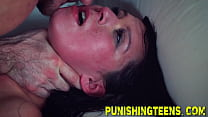 Fetish teen gags on dick and gets pussy fucked ...