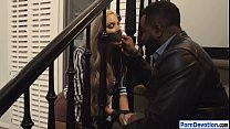 Nina Elle tag teamed by big black cocks