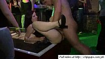 Girls blowjob on party