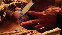 Shibari bondage and waxplay. Black Amy and Roger Barbudo