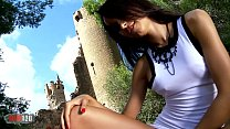 8691 Pornstar brunette Francys Belle dancing and stripping preview