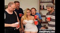Curvy Latina Hollie Gets Gangbanged And Bukkakeed
