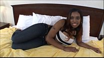 Ebony teen first timer sucking cock in Black Girl Blowjob Video