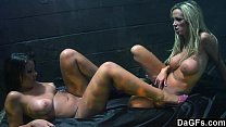Dags - Two Horny Lesbos Doing It In Front Of The Club
