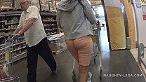 Cameltoe and flashing in the supermarket Vorschaubild