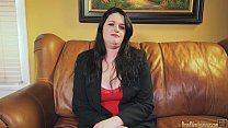 Casting amateur turned slut giving head POV