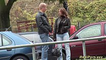 German Stepmom picked up for outdoor sex thumbnail