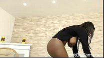 Ebony Milf with Bigtits Riding Dildo Part 2 - HotGalCam.com صورة