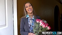 PropertySex - Awesome girlfriend real estate agent bangs her boyfriend