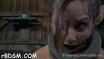 Girl receives hardcore clamping for her massive racks