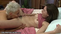 GirlfriendsFilms Blonde MILF Treats Teen Girl Better Than Her Man Can thumbnail